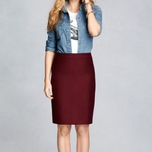 J Crew Pencil Skirt | Burgundy